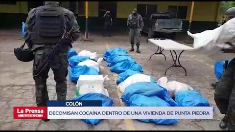 Decomisan cocaína dentro de una vivienda de Punta Piedra, Colón