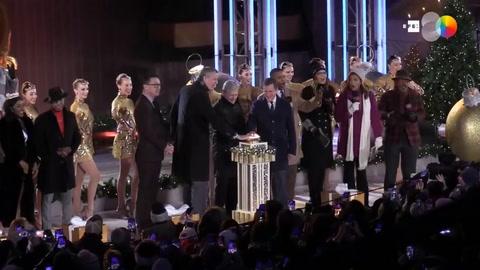 Llega la Navidad a Nueva York con encendido del árbol del Rockefeller Center