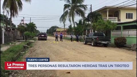Tres personas resultaron heridas tras un tiroteo en Puerto Cortés