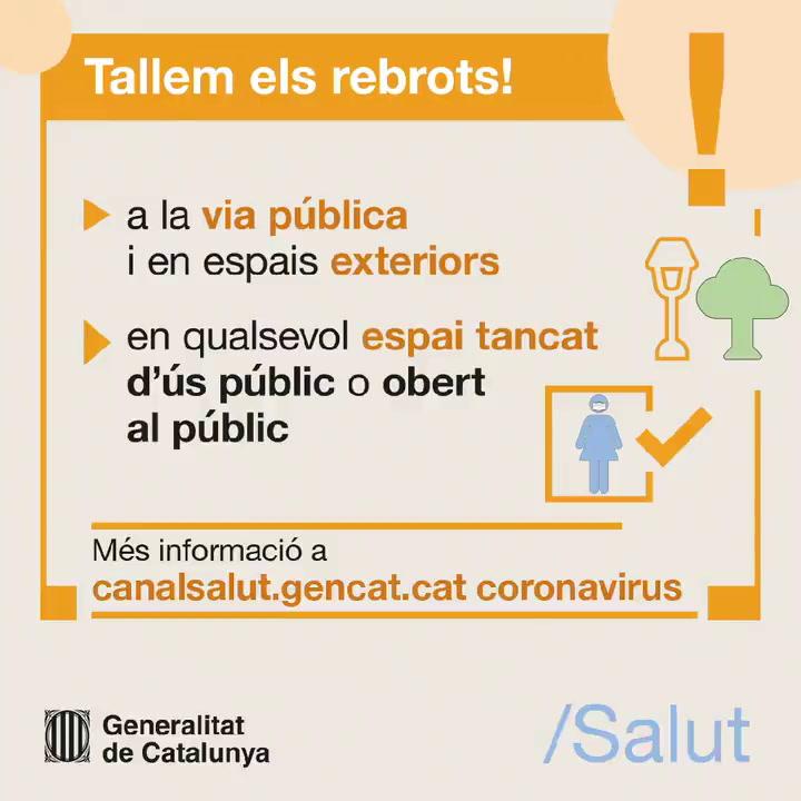 El uso de la mascarilla en Catalunya será obligatorio para todos los mayores de 6 años