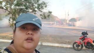 Manifestantes toman carretera en Choluteca al sur de Honduras