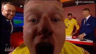 El loco festejo de jugador ucraniano tras la clasificación a la Euro 2020