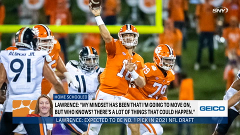 Will Trevor Lawrence actually stay at Clemson for his senior year?