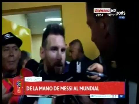 Estar lejos de la prensa sirvió para acercarnos más, aseguró Messi que rompió la veda