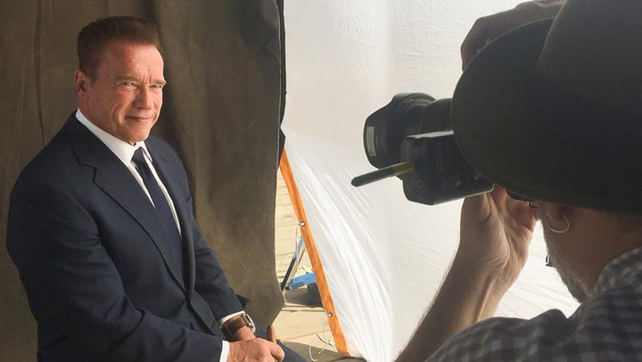 What Did Arnold Schwarzenegger Bring to His Cover Shoot?