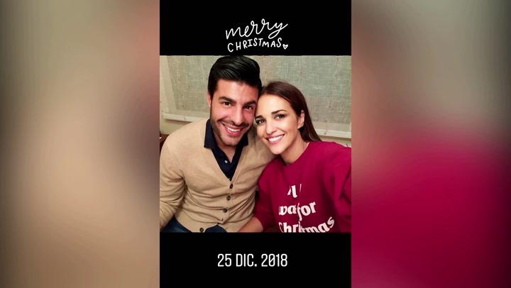 Paula Echevarría desvela una foto inédita de sus primeras navidades con Miguel Torres