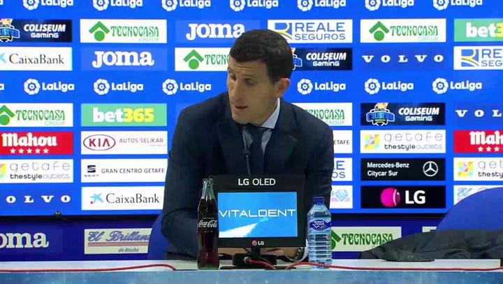 """Gracia: """"Estoy decepcionado con el partido y muy triste con la imagen dada"""""""