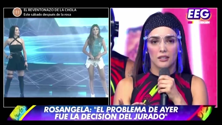 EEG: Rosángela Espinoza pide disculpas al público por desacuerdo con Rebeca Escribens