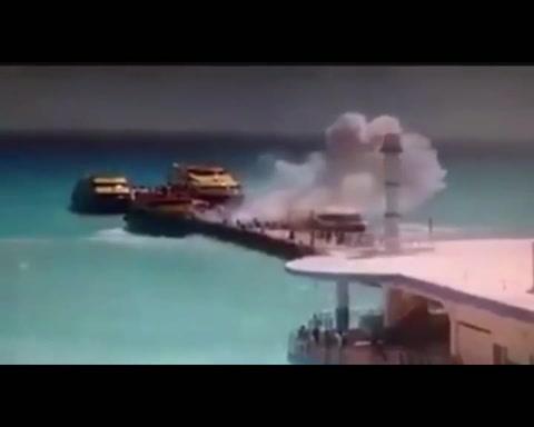 Así explotó un ferry en Playa del Carmen