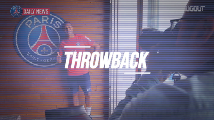 Throwback: Mbappé's First Ever Training Session With PSG