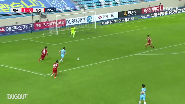 Cesinha scores after chest controlling long-ball from goalkeeper