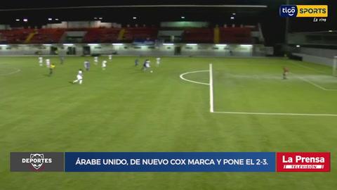 Gol del Árabe Unido, de nuevo Cox marca y pone el 2-3.