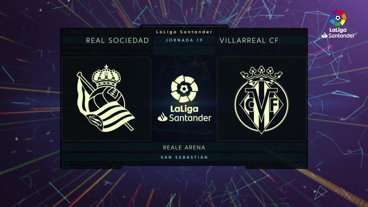 LaLiga (J19): Resumen y goles del Real Sociedad 1-2 Villarreal