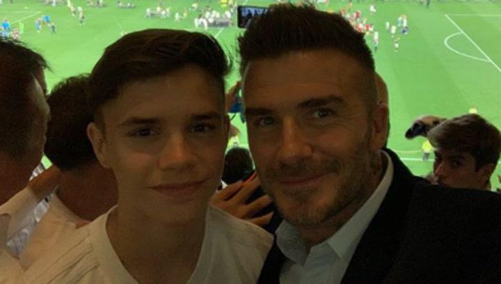 Beckham animó al Valencia desde las gradas del Benito Villamarín