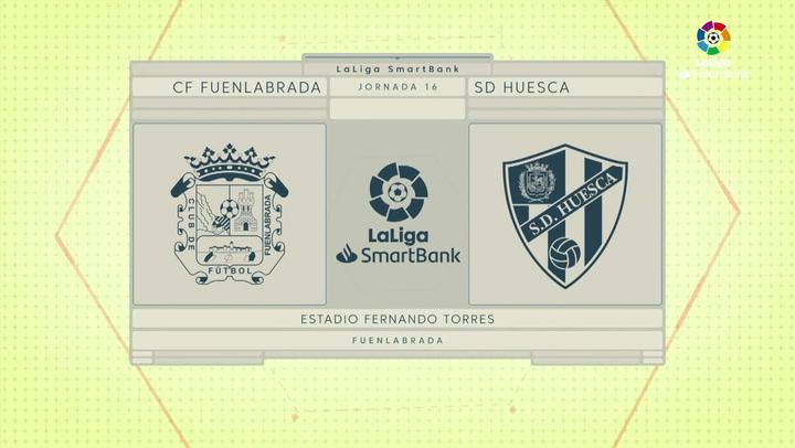LaLiga SmartBank (J16): Resumen y goles del Fuenlabrada 3-2 Huesca