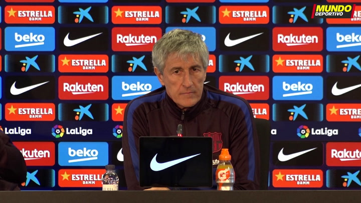 La rueda de prensa de Quique Setién, previa del partido del Barça ante el Granada