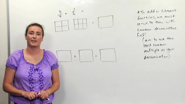 Adding/Subtracting Fractions- Unlike Denominators