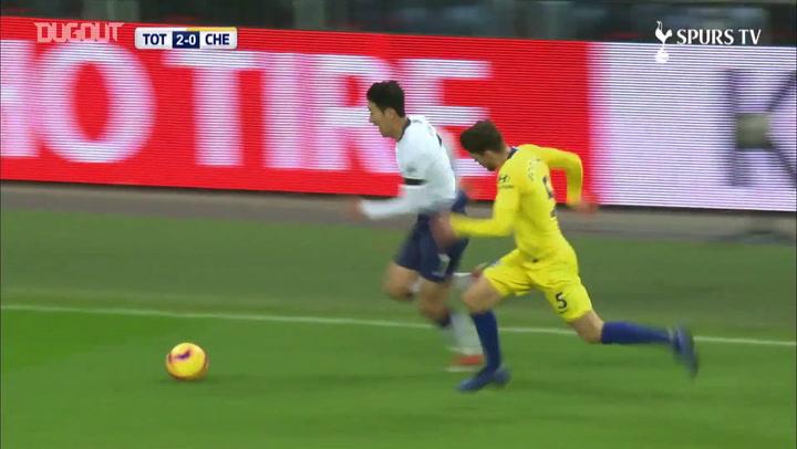 Golaço de Son pelo Tottenham contra o Chelsea; relembre