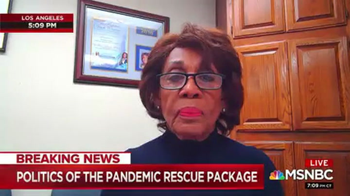 Maxine Waters: Trump Can Not Wipe Away The History of His Pandemic Failure