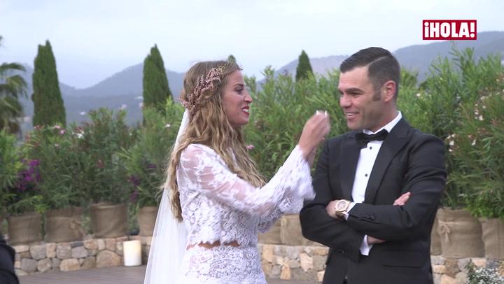 Las lágrimas de Fonsi Nieto en su boda con marta Castro