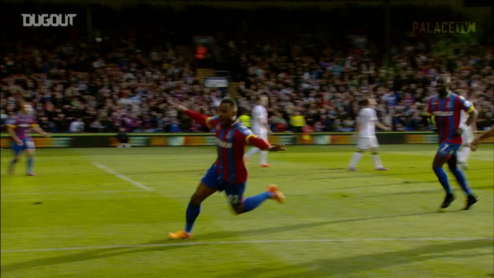 Puncheon curls home a free-kick vs Man United
