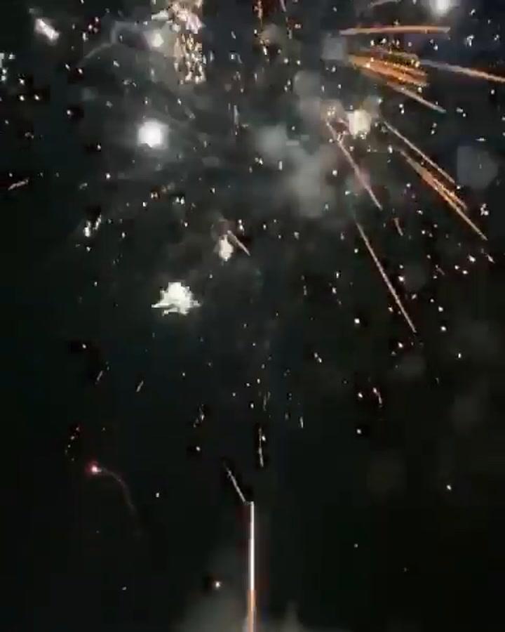 Así fue el espectáculo de fuegos artificiales de Sergio Ramos por Fin de Año