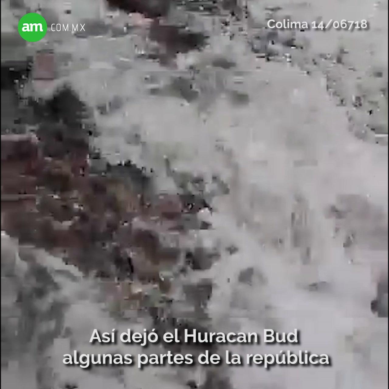 Video: Estos son los destrozos que dejó el paso del Huracán Bud