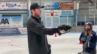 Former UMD captain Andy Welinski is one of the instructors at the Twin Ports Pro Development Camp in Superior. Welinski saw action last season with the NHL's Anaheim Ducks. (Dan Williamson / dwilliamson@duluthnews.com)