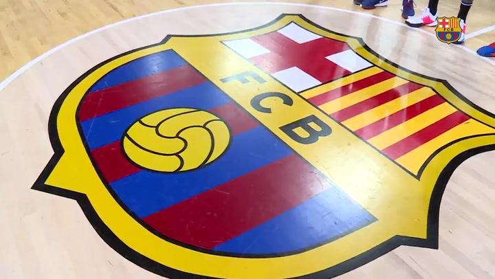 Así fue el primer día de entrenamiento de Delaney con el Barça