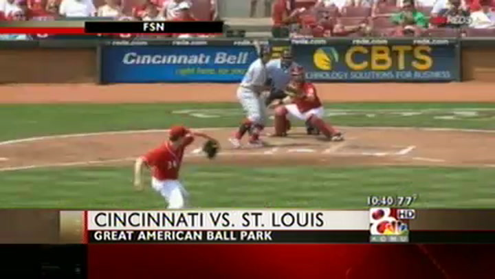 Holliday Powers the Cards Past the Reds