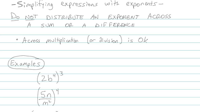 Simplifying Expressions with Exponents - Problem 4