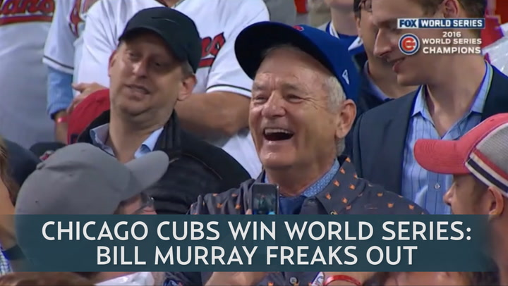 Twitter Melts Down Over Bill Murray S Reaction To Cubs World Series Win That bill murray is perceived as a beloved comic deity must be perplexing to those who've crossed swords with him over the years. chicago cubs win world series bill murray freaks out