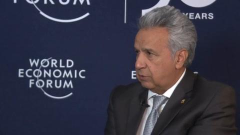 Presidente de Ecuador promete seguir con las reformas pese a las protestas de octubre