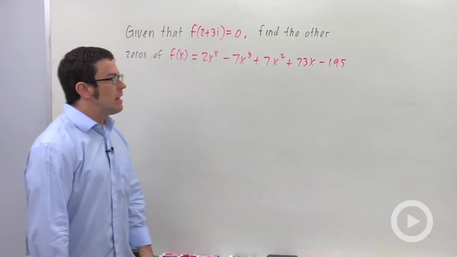 Using the Conjugate Zeros Theorem - Problem 2