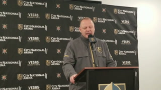 Golden Knights coach Gerard Gallant on his team having three days between games