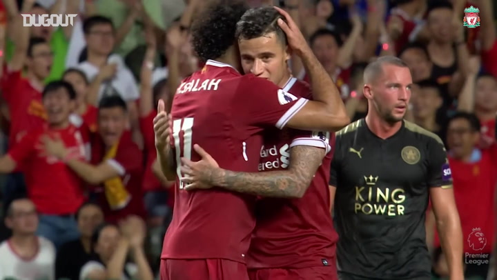 Mohamed Salah and Philippe Coutinho secure pre-season win over Leicester City