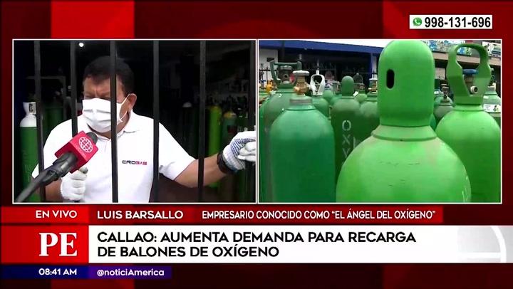 'Ángel del Oxígeno' asegura que demanda de balones sigue en aumento desde la semana pasada en medio de la segunda ola