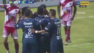 Sergio Peña anota para Motagua el 1-0 ante Vida