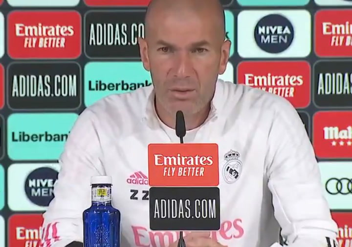Zidane Sabemos contra quién nos vamos a enfrentar. Necesitamos nuestra mejor versión ante el Betis