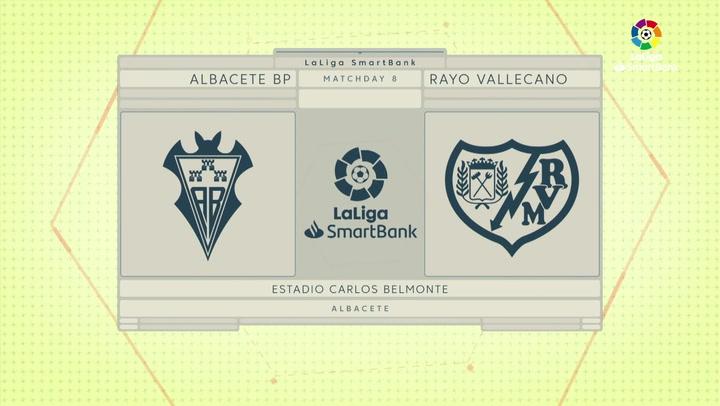 LaLiga SmartBank (J8): Albacete 2-1 Rayo Vallecano