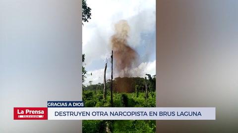 Destruyen otra narcopista en Brus Laguna, Gracias a Dios