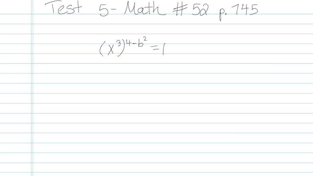 Test 5 - Math - Question 52