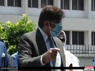 جعلی اکاؤنٹس کیس؛ وزیراعلیٰ سندھ مراد علی شاہ نیب میں پیش
