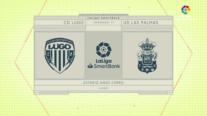 LaLiga SmartBank (J11): Resumen y goles del Lugo 2-0 Las Palmas