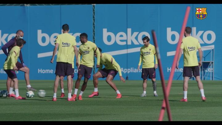 El Barça sigue avanzando pensando en la vuelta a la competición