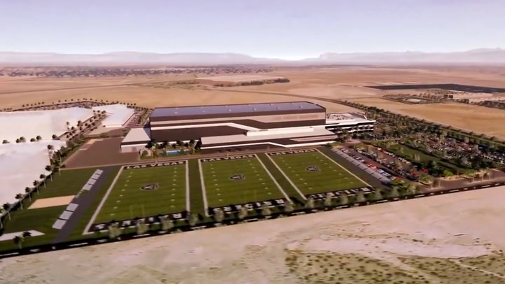 Raiders practice facility taking shape | Las Vegas Review