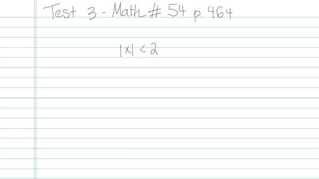 Test 3 - Math - Question 54