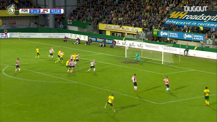 Todd Cantwell delivers perfect ball for Finn Stokkers to seal promotion to the Eredivisie