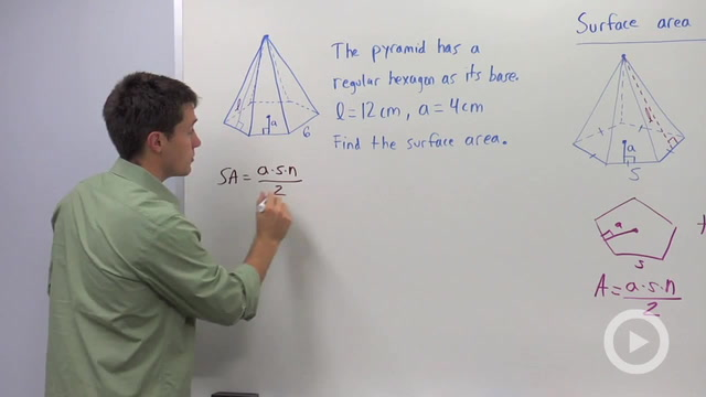 Surface Area of Pyramids - Problem 2