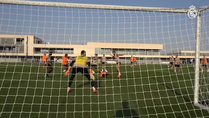 El Real Madrid prepara el partido contra el Alavés